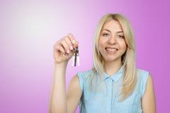Kobiety mienia klucze Fotografia Stock