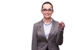 Kobiety mienia klucze w nieruchomości pojęciu Zdjęcia Royalty Free