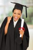 Kobiety mienia magisterski dyplom Obraz Stock