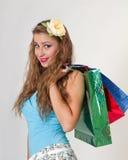 Kobiety mienia torba na zakupy Obraz Stock