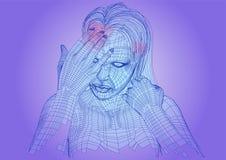 Kobiety migrena royalty ilustracja