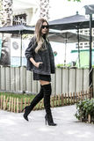 Kobiety moda outdoors Obraz Royalty Free