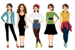 Kobiety moda projektuje ilustrację ilustracja wektor