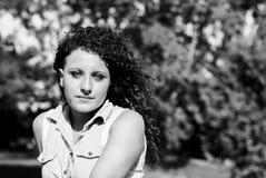 Kobiety modelują włosianą czerwień Zdjęcia Royalty Free