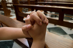 Kobiety modlenie dla mieć nadzieję Obraz Stock
