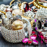 Kobiety modna biżuteria Zdjęcie Royalty Free
