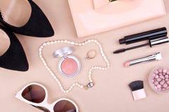 Kobiety mody kosmetyki i akcesoria Obrazy Royalty Free
