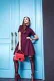 Kobiety mody pięknego stylu kolekci modela odzieżowy katalog Fotografia Royalty Free