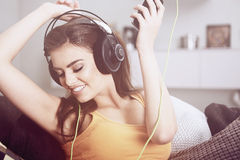 - kobiety muzycznej słuchawki Obraz Royalty Free