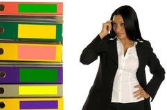 kobiety myśląca praca Zdjęcia Stock