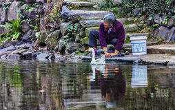 Kobiety myje rzekę Obraz Stock