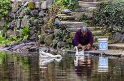 Kobiety myje rzekę Fotografia Royalty Free