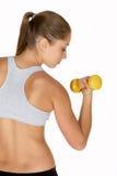 kobiety na skarbikowani biceps young Zdjęcia Royalty Free