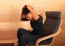 Kobiety naprawiania fryzura Obraz Stock