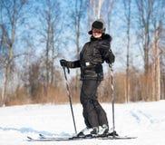 Kobiety narciarstwo Zdjęcia Stock