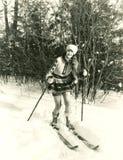 Kobiety narciarstwo Obrazy Stock
