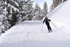 Kobiety narciarstwo Fotografia Stock