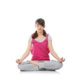 kobiety nastoletni stażowy joga obrazy stock
