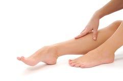 Kobiety nogi opieka c Fotografia Stock
