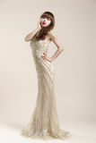 Kobiety noszą ślubna suknia Obraz Royalty Free