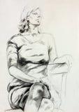 Kobiety obsiadania nakreślenie royalty ilustracja