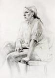 Kobiety obsiadania nakreślenie ilustracji