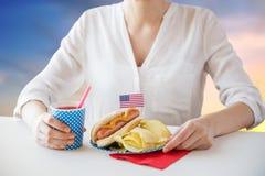 Kobiety odświętności amerykanina dzień niepodległości zdjęcie royalty free