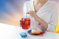 Kobiety odświętności amerykanina dzień niepodległości obraz royalty free