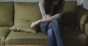 Kobiety odczucia depresja zdjęcie stock