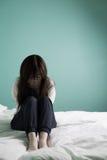 Kobiety odczucia depresja zdjęcia stock