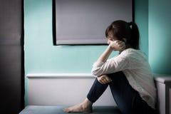 Kobiety odczucia depresja fotografia stock