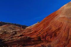 Kobiety odprowadzenie czerwonym wzgórzem w Oregon zdjęcie stock