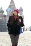 Kobiety odprowadzenie na placu czerwonym w Moskwa Fotografia Royalty Free