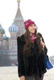 Kobiety odprowadzenie na placu czerwonym w Moskwa Obraz Stock