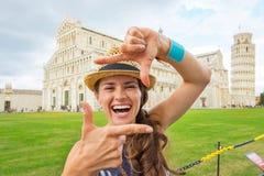 Kobiety otoczka na piazza dei miracoli, Pisa Zdjęcie Royalty Free