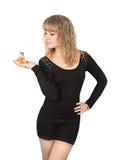 Kobiety pachnidła butelka zdjęcia stock
