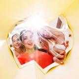 Kobiety patrzeje inside torbę Obraz Royalty Free