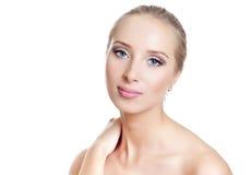 Kobiety piękna twarz a Obrazy Stock