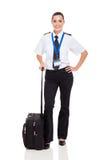 Kobiety pilotowa teczka Obrazy Royalty Free