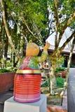 Kobiety plemienna statua przy Doi Ang Khang, Chiang Ma Zdjęcia Royalty Free