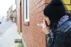 Kobiety podejrzana paranoja Zdjęcie Royalty Free