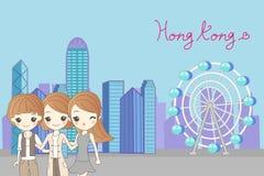 Kobiety podróż Hongkong Obrazy Royalty Free