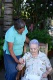 Kobiety pomocy stara dama Obraz Royalty Free