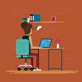 Kobiety pracuje w pokoju przy biurem Fotografia Stock