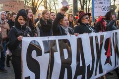 Kobiety protestacyjne Fotografia Stock