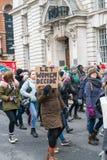 Kobiety Protestuje w St Patric ` s Paradują obrazy stock