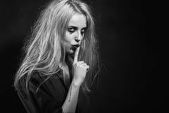 Kobiety przedstawienia cisza Obrazy Stock