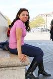 Kobiety przespacerowanie w Paryż obraz stock