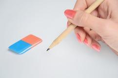 Kobiety ręka pisze Fotografia Stock