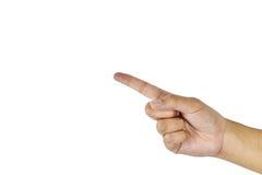 Kobiety ręka symbol odizolowywają na białym tle fotografia stock